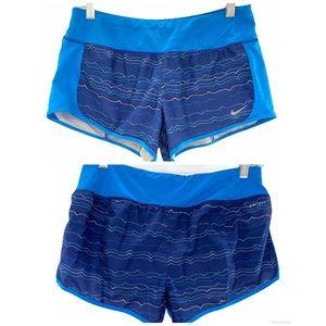 NIKE   Women's Athletic Running Shorts Blue